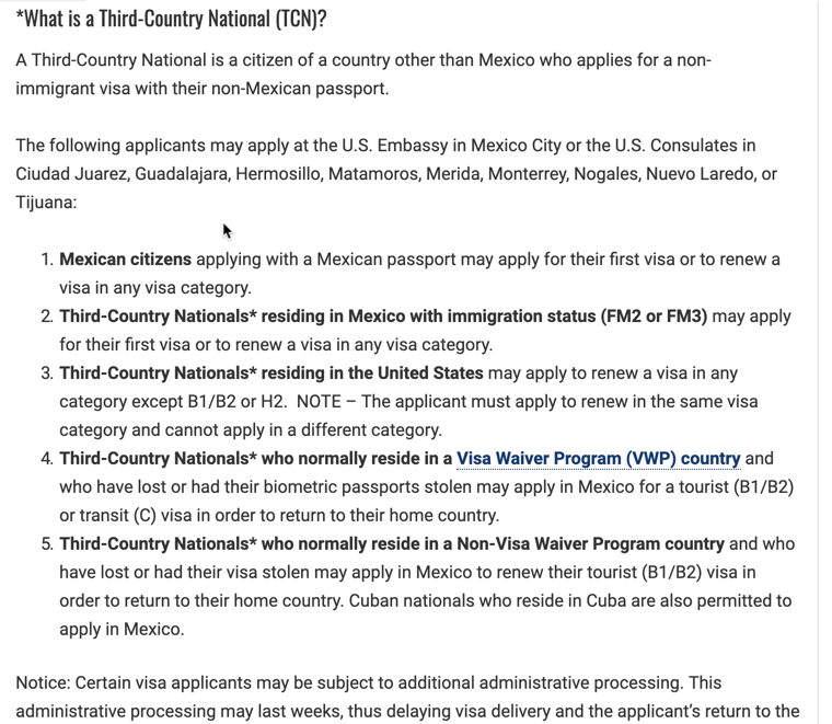 Does Canada/Mexico visa consulates take first time L1A stamping