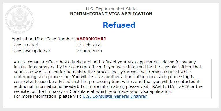 Visa Update on Jun 22 2020